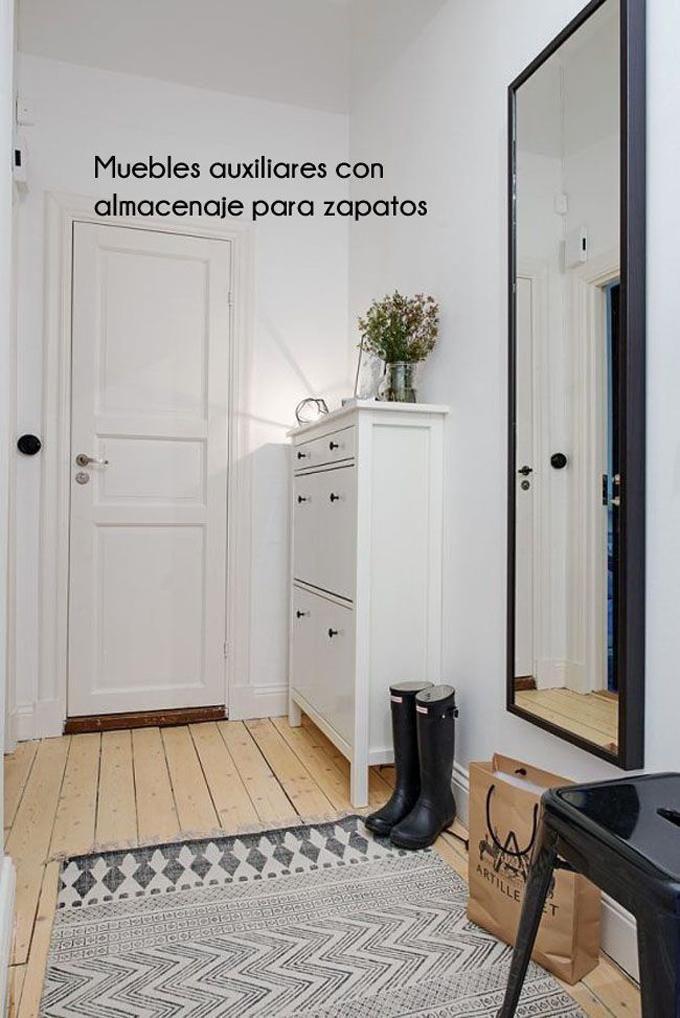 Inspiraci n para poner un zapatero en la entrada for Zapatero entrada casa