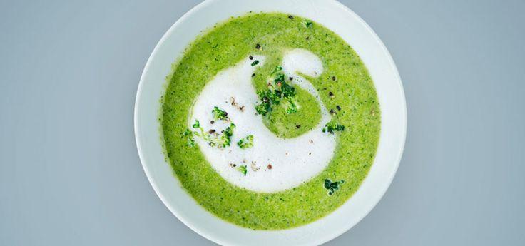 Bilde av brokkolisuppe