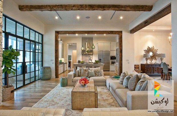 كولكشن مطابخ مفتوحه على الصاله للشقق الحديثة لوكشين ديزين نت Living Room Design Modern Transitional Living Rooms Living Room Interior