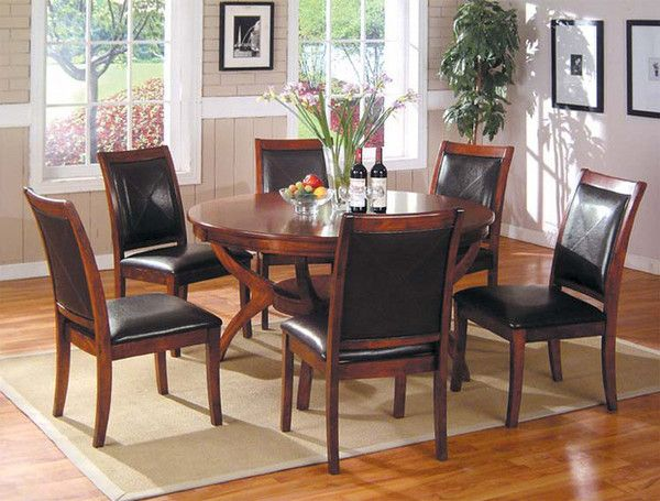 limited supply click image above dining table u0026 chairs set mahogany finish - Kitchen Table And Chair Sets