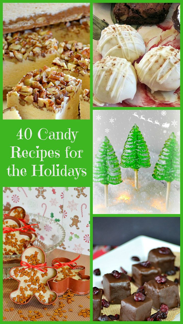 40 Candy Recipes for the Holidays | Get a jump start on your holiday candy making with this collection of my favorite candy recipes.