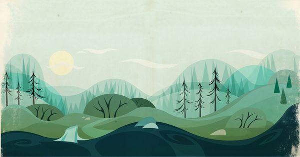 Background Design by Juan Casini, via Behance