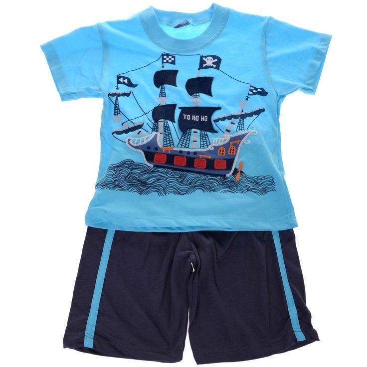 Καλοκαιρινό σετ μπλούζα-παντελόνι βερμούδα, για αγόρια 1, 2, 3 ετών, μόνο €11,90 (-34%).  ⛵ Αγοράστε τώρα online: https://www.azshop.gr/s/pirate+ship #azshop #παιδικά #ρούχα #online #νέα #collection