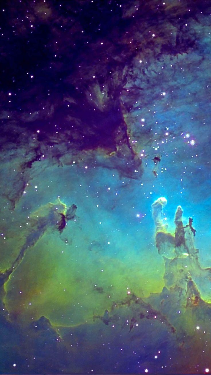 green nebula wallpaper iphone - photo #5