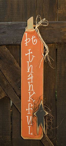 Made in the USA, our Be Thankful Sign will look great on your porch this fall! g42.jpg