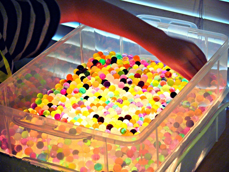 Water Beads And A DIY Childrens Kids Glow Light Table!