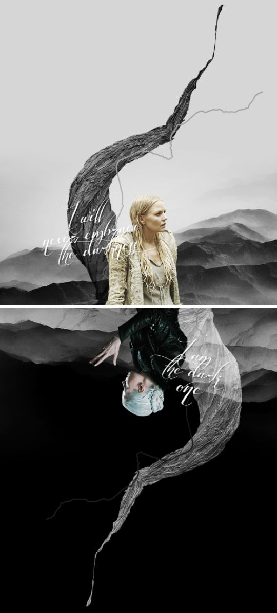 I will never embrace the darkness #ouat<<I am the dark one