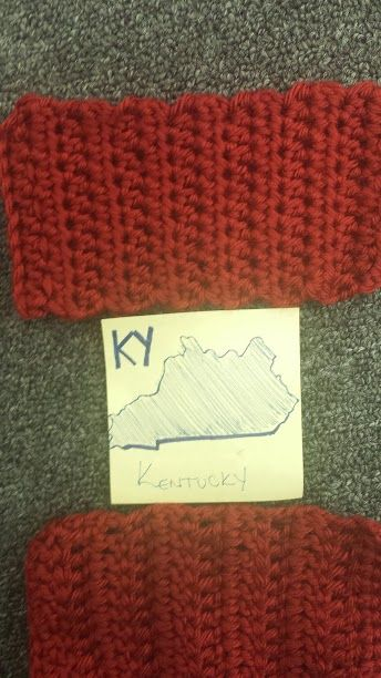 Secular #Craftivist Christy sent us in a brick. Thank you for helping us to rebuild the wall of separation between #church and #state. #KnitABrick