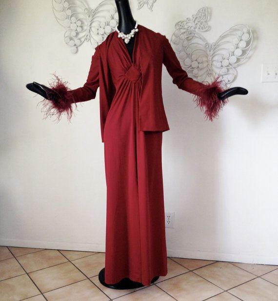 CLASSY Ron Burgundy's Prom Date Dress  Vintage by elliemayhems $69 LOVEEEE!!!