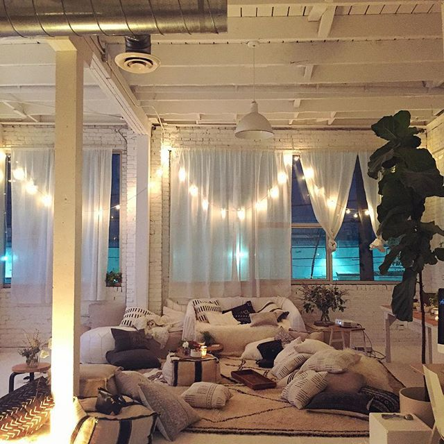 Cozy Indoor Movie Night Via Designlovefest