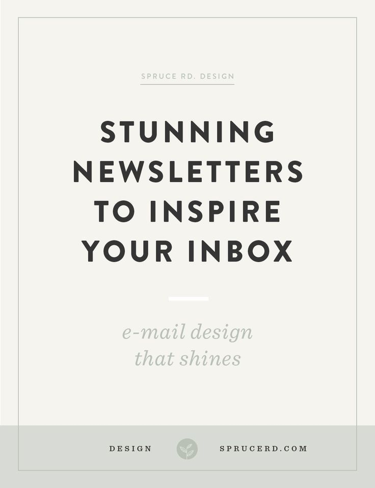 Does anyone else subscribe to newsletters for the design inspiration alone? … or is that just me? I'm sharing my personal favorite newsletters worth subscribing to for design inspiration.