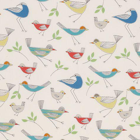 Little Home At John Lewis Stick Birds Furnishing Fabric