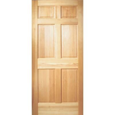 Masonite 30 In X 80 In 6 Panel Unfinished Fir Front Door