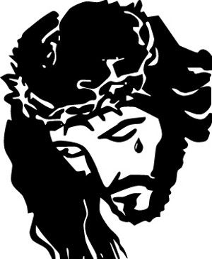 Jesus Carrying Cross Silhouette | Jesus Christ Crying Sticker