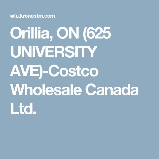 Orillia, ON (625 UNIVERSITY AVE)-Costco Wholesale Canada Ltd.
