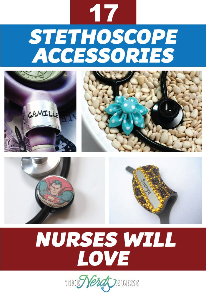 Who says your stethoscope has to be boring? Check out these stethoscope accessories. PIN NOW, Read Later.