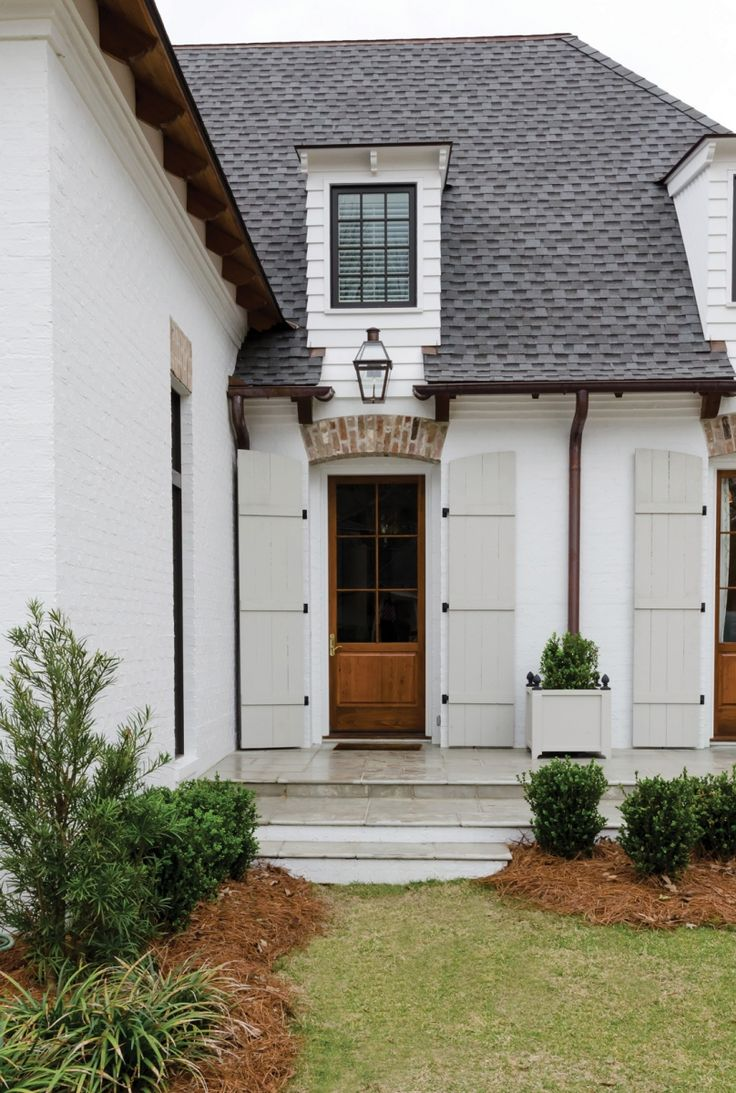1000 ideas about white exterior houses on pinterest White painted brick exterior