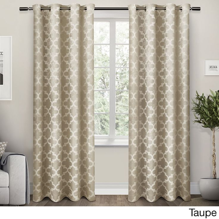 ATI Home Cartago Insulated Woven Blackout Window Curtain Panel Pair (Taupe 96), Brown, Size 54 x 96 (Polyester, Lattice)