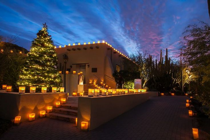 Christmas in the Desert: Holiday Luminarias at Desert Botanical Garden