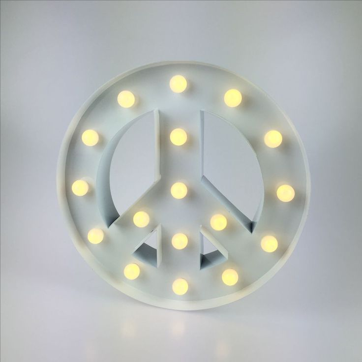 Light & Store - Marquee Lights - Símbolos Peace