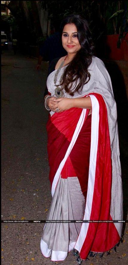 Vidya Balan in a Raw Mango Saree.