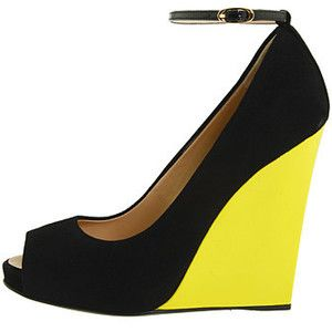 love the pop of yellow: Shoes Wedges, Style Shoes, Wedges Shoes, Zanotti Wedge, Guiseppe Zanotti, Shoe Wedges, Colorblock Wedges, Shoes Heels