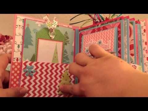 Video utile per prendere spunto sulla decorazione interna di un mini album a tema Natale.