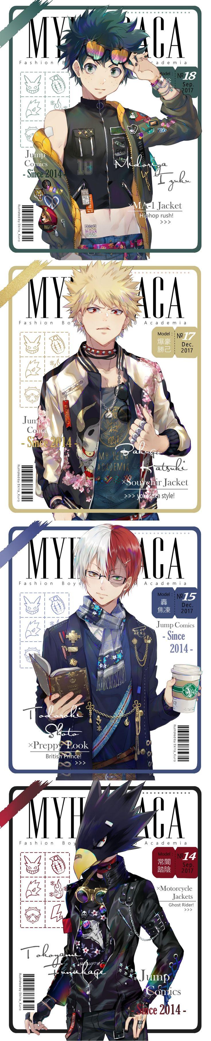Boku no Hero Academia || Midoriya Izuku || Bakugou Katsuki || Todoroki Shouto || Tokoyami Fumikage