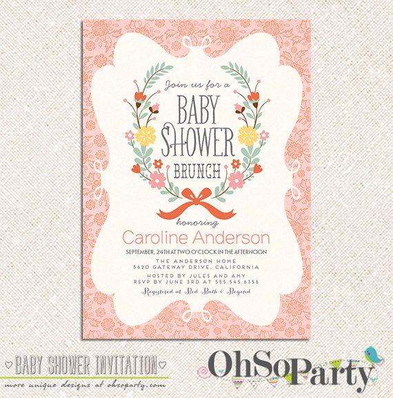 petite brunch custom printable baby shower brunch invitation you 39 re