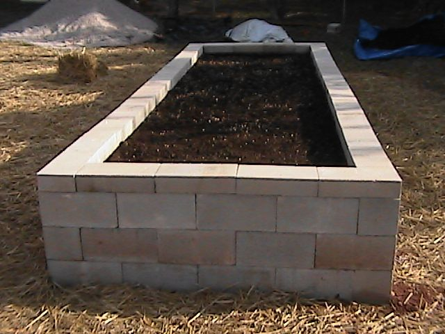 Cinder Block Raised Bed - I want to do this along the side of our house that sun all day... veggies? herbs?