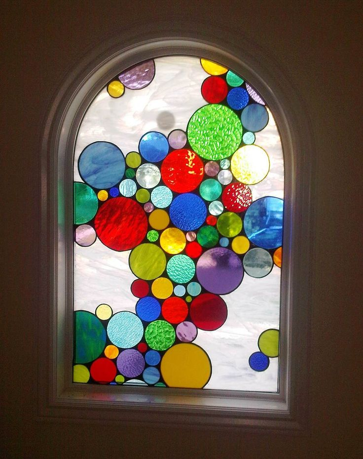 578 best stained glass abs geo images on pinterest for Window design circle