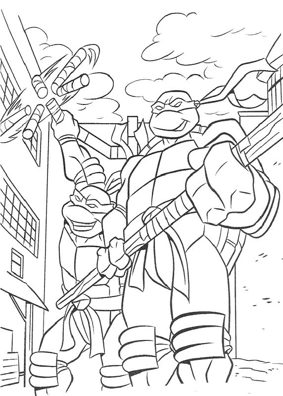 19 Best Images About Coloring TMNT On Pinterest