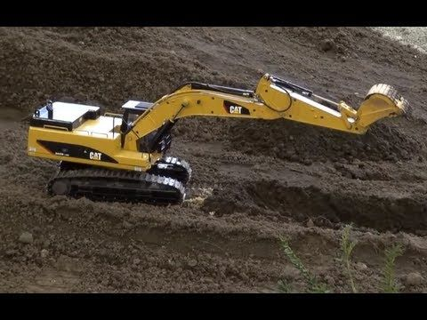 Awesome Rc Metal Excavator Caterpillar 345d With Sound And