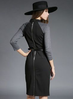 Shop for high quality Autumn V-Neck Slim Elegant Cotton Dress online at cheap prices and discover fashion at Ezpopsy.com