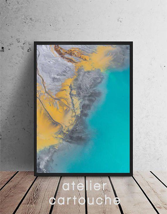 Ocean Beach Water Wall Art Printable Modern Beach Print