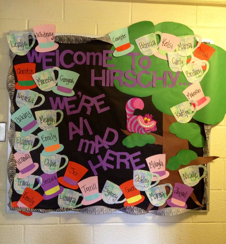 Alice in Wonderland Community bulletin board