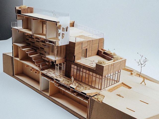 "¼"" building section model of an Art Center #nextarch #next_top_architects"