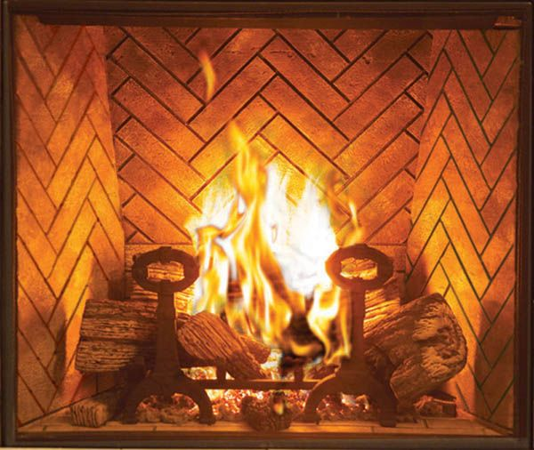 Direct Vent Gas Fireplace Brick Raised Hearth Arch