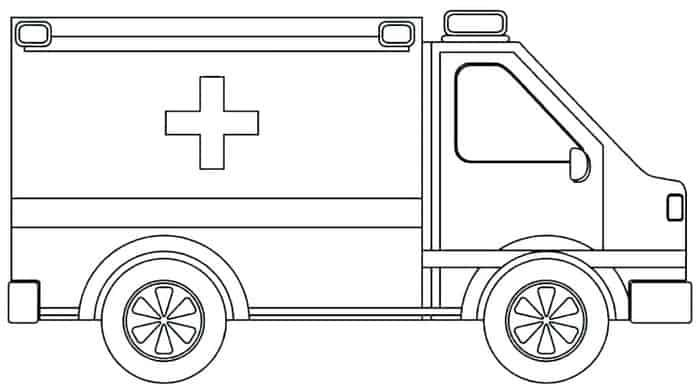 Ambulance With Stretcher Coloring Pages Truck Coloring Pages Coloring Pages Coloring Pages For Boys