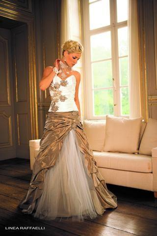 linea raffaelli b09 set50 top and skirt size 12 ivory