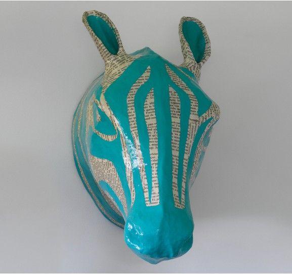 Zebra Papier M Ch Head For Dwell Studio Animal Headszebraskids Roomspaper