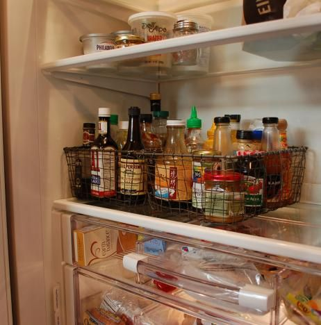how to organize your fridge ... baskets