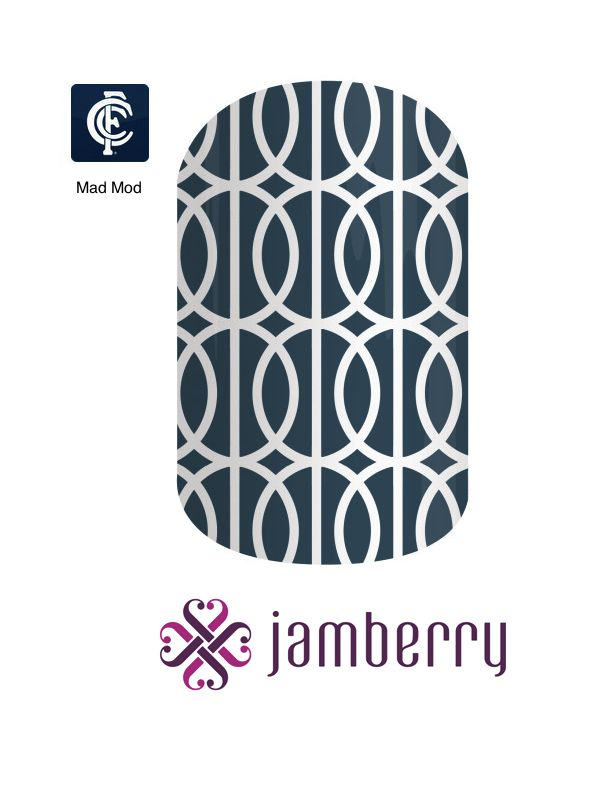 Jamberry Carlton Inspiration - Mad Mod