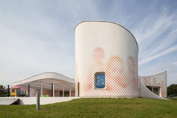childcare facility in boulay, france designed by paul le quernec | building surface imagery (building as art)