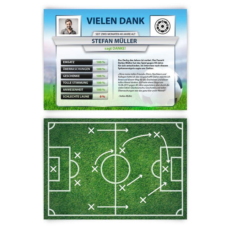 Danksagungskarten Fussball Spielerstatistik #danksagungskarte #danksagung #dankeskarte #danke #vielendank #bedanken #geburtstag #hochzeit #fußball #statistik