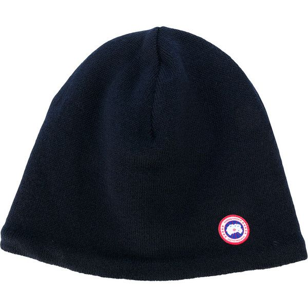 Canada Goose Wool Hat (€91) ❤ liked on Polyvore featuring men's fashion, men's accessories, men's hats, navy, mens beanie hats and mens wool hats