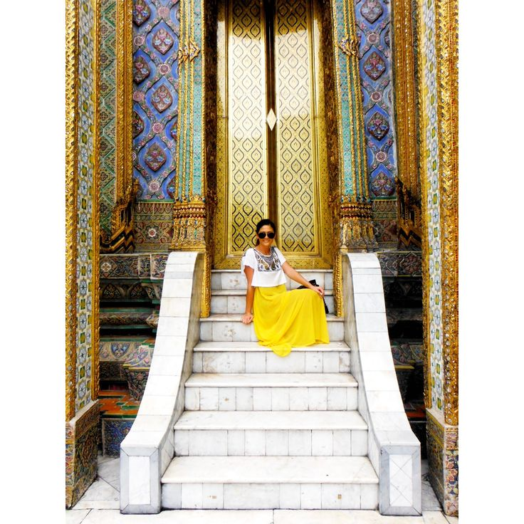 #gold #embellished #temple #bangkok #thailand  #travel #wanderlust
