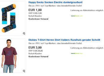 Ebay: Mode-Sale bei Brands4friends mit Artikeln ab 1,99 Euro frei Haus https://www.discountfan.de/artikel/klamotten_&_schuhe/ebay-mode-sale-bei-brands4friends-mit-artikeln-ab-199-euro-frei-haus.php Bei Ebay werden derzeit via Brands4friends Markenklamotten zu Schnäppchenpreisen ab 1,99 Euro frei Haus verschleudert. Insgesamt sind über 1100 Artikel im Angebot. Ebay: Mode-Sale bei Brands4friends mit Artikeln ab 1,99 Euro frei Haus (Bild: Ebay.de) Der Sale von Brands4friends