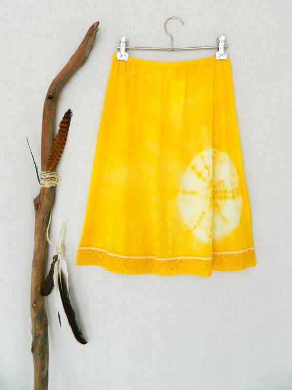 SUNSHINE . womens tie dye skirt . size 10 . by bohemianbabes