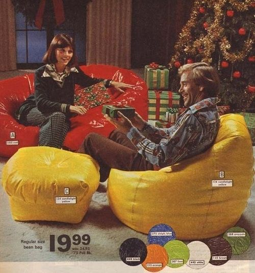 Bean Bag Chairs See More Beanbags In The 1975 Christmas Montgomery Ward Catalogue